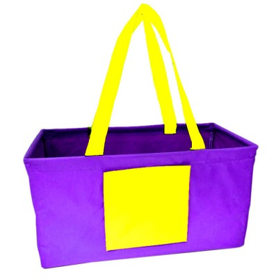181521 - PURPLE/YELLOW SHOPPING BASKET OR UTILITY BASKET