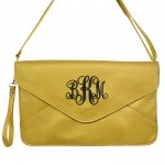 32740 - GOLD LEATHER CLUTCH BAG
