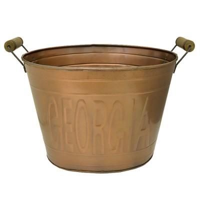 1220  Tub Oval Large Copper Georgia