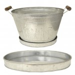 1299 - PLAIN OVAL SILVER TRAY