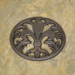 1300 - COPPER FDL OVAL TRIVET