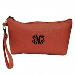 181287 - BURGUNDY COIN POUCH OR COSMETIC/MAKEUP BAG