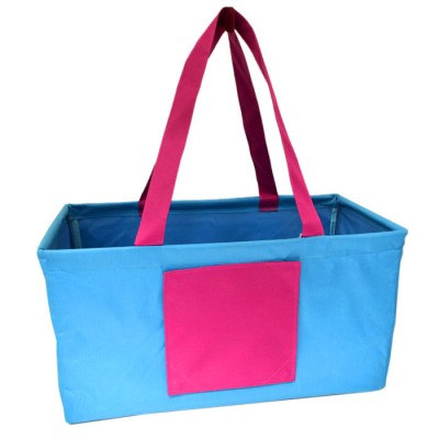 181517 - BLUE/PINK SHOPPING BASKET OR UTILITY BASKET