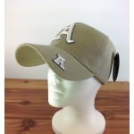 "2016 - TAN COTTON CAP W/LETTER ""A"""