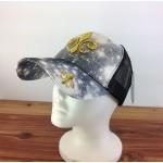 2016 - BK/WH W/GOLD FDL COTTON CAP