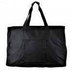 12002- BLACK LARGE SHOPPING BASKET OR UTILITY BASKET