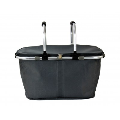 12008- GREY INSULATED PICNIC BASKET