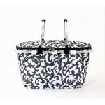 12008- GREY LEAF DESIGN INSULATED PICNIC BASKET