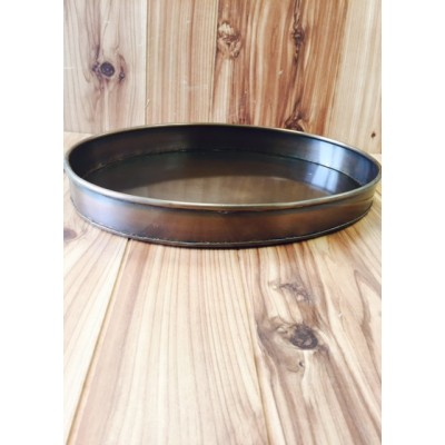 1298COP - PLAIN OVAL COPPER TRAY