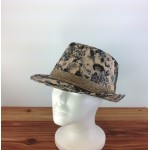 1800 - BLACK-N-BEIGE BLOCKED STRAW HAT