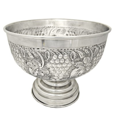 "180100 - 16"" GRAPE DESIGN PUNCH BOWL"