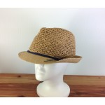 1803 - TAN-N-BLACK STRAW HAT