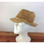 1803 - TAN-N-CREAM STRAW HAT