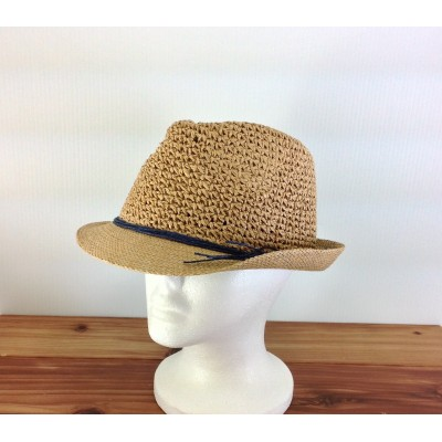 1803 - TAN-N-NAVY STRAW HAT