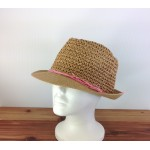 1803 - TAN-N-PINK STRAW HAT
