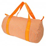 181015-ORANGE/WHITE GINGHAM DUFFLE BAG
