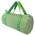 181016-GREEN/WHITE GINGHAM DUFFLE BAG