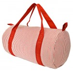 32680-RED SEER SUCKER DUFFLE BAG