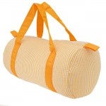 32682-ORANGE SEER SUCKER DUFFLE BAG