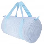 32685-AQUA SEER SUCKER DUFFLE BAG