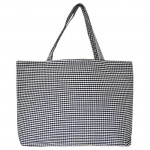 32697 - NAVY/WHITE GINGHAM SHOPPING BAG