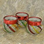 32744-JARS 3PCS RED &YELLOW JAR SET