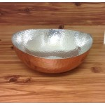 3592-2 TONE LARGE HAMMERED BOWL
