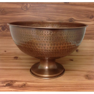 4002-HAMMERED COPPER BOWL WITH PEDESTAL