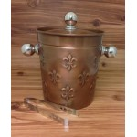 4008-FDL COPPER ICE BUCKET W/TONG