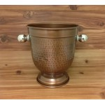 4044- HAMMERED COPPER  WINE/CHAMPAGNE HOLDER
