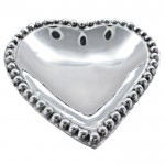52512- BEADED HEART SHAPE TRAY