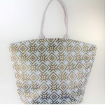 9202 - WHITE CANVAS TOTE BAG