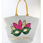 9210- MARDI GRAS CANVAS TOTE BAG