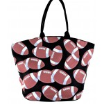 9215- FOOTBALL CANVAS TOTE BAG