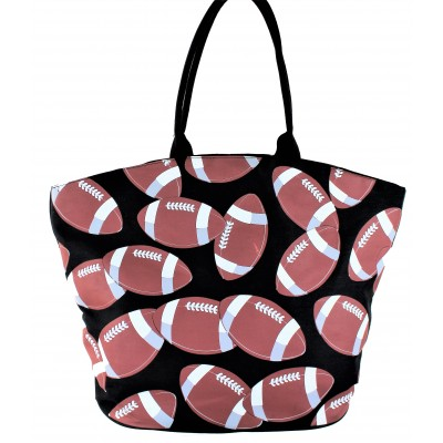 9215- FOOTBALL CANVAS TOTE BAG