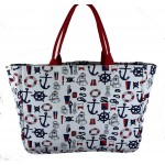 9218- MULTI ANCOR CANVAS TOTE BAG