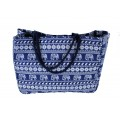 9219- NAVY ELEPHANT CANVAS TOTE BAG