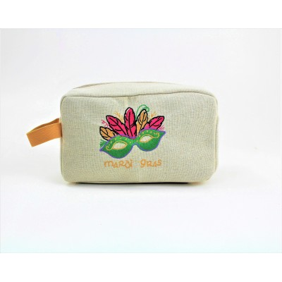 9236- MARDI GRAS COSMETIC BAG
