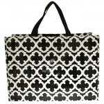 6022 - BLACK/WHITE QUATREFOIL SHOPPING