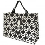 6023- BLACK/WHITE FDL QUATREFOIL SHOPPING