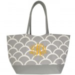 6039 - GREY SHELL SHOPPING OR BEACH BAG