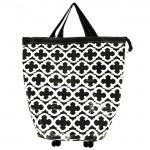 6021- BLACK QUATREFOIL LAUNDRY BAG
