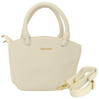 32784 - WHITE PURSE /W HANDLE