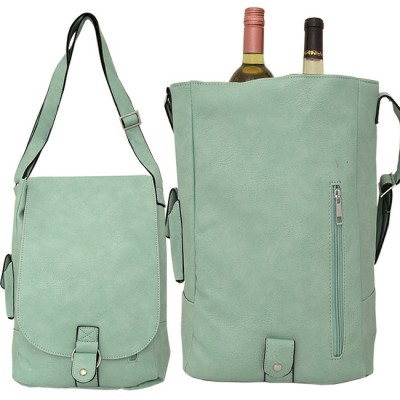 9002 - MINT LEATHER WINE PURSE (PU)