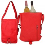 9002 - RED LEATHER WINE PURSE (PU)