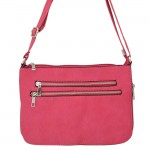 9003 - HOTPINK LONG STRAP CROSSBODY MESSENGER BAG