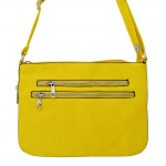 9003 - MUSTARD LONG STRAP CROSSBODY MESSENGER BAG