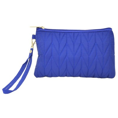 9007 - BLUE QUILTED COSMETIC POUCH