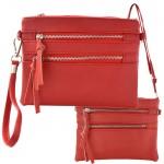 9039A - RED CROSSBODY MESSENGER BAG