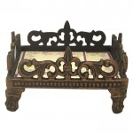 1303 - IRON FLEUR DE LIS NAPKIN HOLDER OR CANISTER BASE